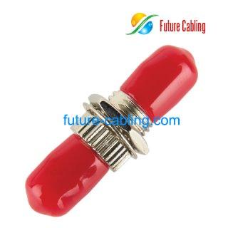 ST Fiber Optic Adapter, Simplex, Singlemode, Metal Housing