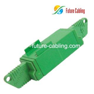 E2000/APC Fiber Optic Adapter, Duplex, Singlemode