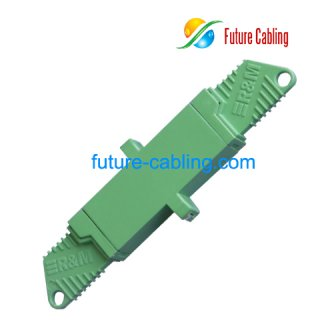 E2000/APC Fiber Optic Adapter, Simplex, Singlemode