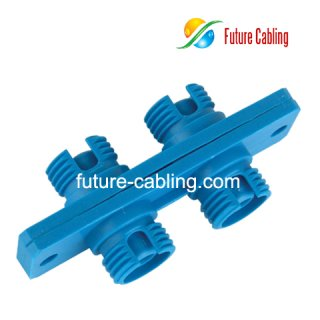 FC Fiber Optic Adapter, Duplex, Singlemode, Plastic Housing