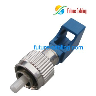 FC Male to LC Female Hybrid Fiber Optic Adapter, Simplex, Singlemode