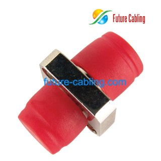 FC Fiber Optic Adapter, Simplex, Singlemode, Square One Body Type