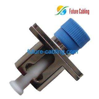 FC-LC Hybrid Fiber Optic Adapter, Simplex, MULTImode, Metal Housing