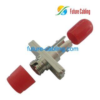 FC-ST Hybrid Fiber Optic Adapter, Simplex, Multimode, Metal Housing