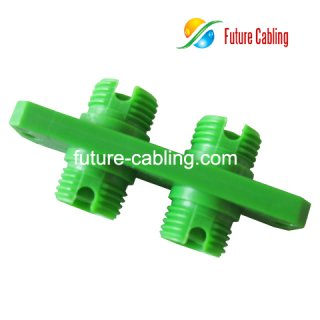FC/APC Fiber Optic Adapter, Duplex, Singlemode, Plastic Housing