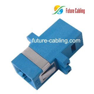 MTRJ Fiber Optic Adapter with SC Footprint, Duplex, Singlemode