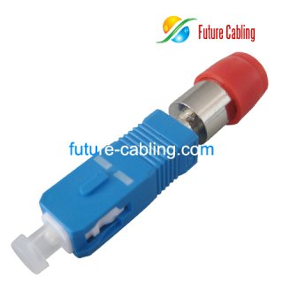SC Male to FC Female Hybrid Fiber Optic Adapter, Simplex, Singlemode