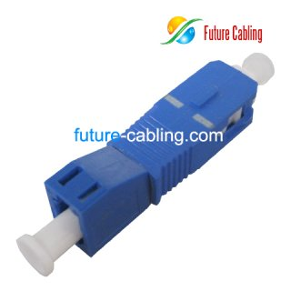SC Male to LC Female Hybrid Fiber Optic Adapter, Simplex, Singlemode
