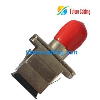 SC-ST Hybrid Fiber Optic Adapter, Simplex, Multimode, Metal Housing