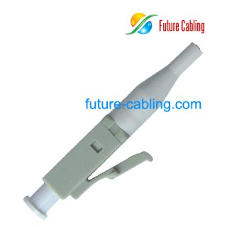 LC Fiber Optic Connector, Simplex, Multimode, 0.9mm Boot