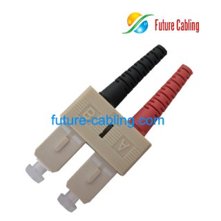 SC Fiber Optic Connector, Duplex, Multimode, 3.0mm Boot
