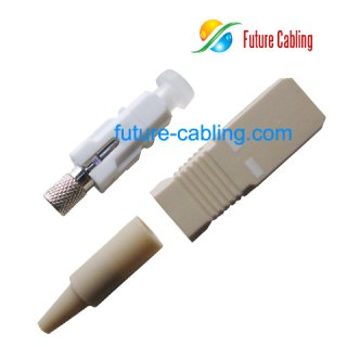 SC Fiber Optic Connector, Simplex, Multimode, 0.9mm Boot