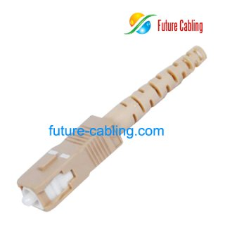 SC Fiber Optic Connector, Simplex, Multimode, 3.0mm Boot