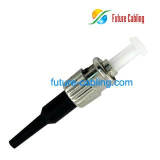 ST Fiber Optic Connector, Multimode, 0.9mm Boot
