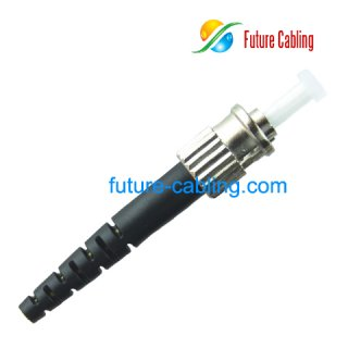 ST Fiber Optic Connector, Multimode, 3.0mm Boot