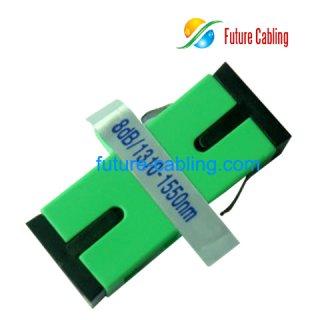 SC/APC Bulkhead Fiber Optic Attenuator, 8dB