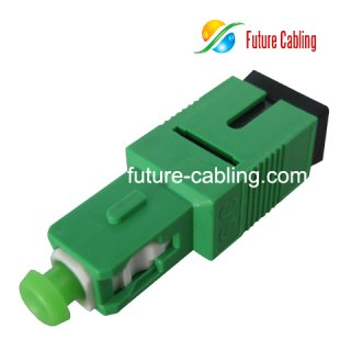 SC/APC Plug in Fiber Optic Attenuator, Plastic Housing