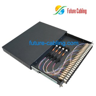 MPO Fiber Optic Patch Panel, 1U, 24 Port, Suit for SC Duplex Fiber Adapter