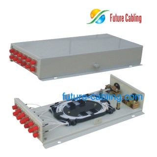 Fiber Optic Terminal Box, 12 Port, Suit for FC Fiber Optic Adapter
