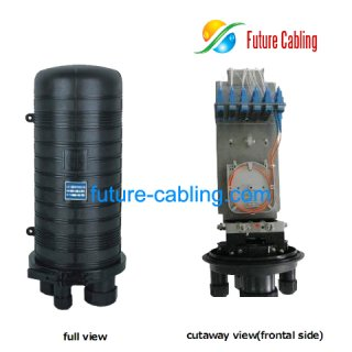 Fiber Optic Splice Closure, 4 Port, 2 in 2 out, can be installed with one 2*32 Splitter or Several Pieces of Splice Tray