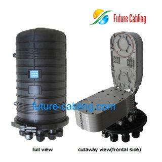 Fiber Optic Splice Closure, 11 Port, 192 Fiber in Maximum