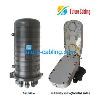Fiber Optic Splice Closure, 8 Port, 144 Fiber in Maximum