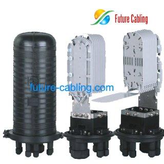 Fiber Optic Splice Closure, 7 Port, 240 Fiber in Maximum