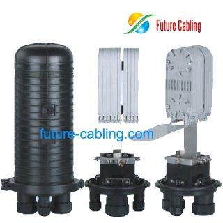 Fiber Optic Splice Closure, 4 Port, 144 Fiber in Maximum