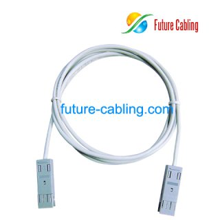 2 Pair 110 to 110 Patch Cords, 1 Meter