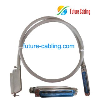 25 Pair Telco Cable, with 90 Degree Metal Connectors, Male to Male, 3 Meters