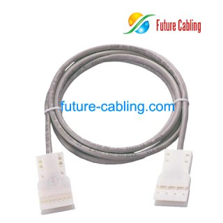 4 Pair 110 to 110 Patch Cable, 1 Meter