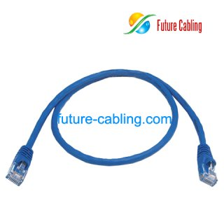 Cat5e UTP Patch Cable, Blue Jacket, 2 Feet