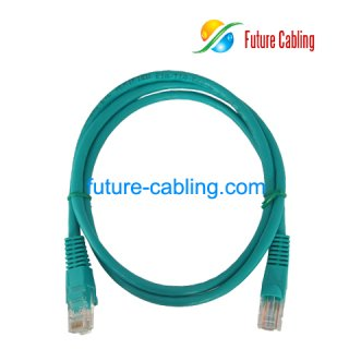 Cat5e UTP Patch Cable, Green Jacket, 3 Feet