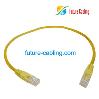Cat5e UTP Patch Cable, Yellow Jacket, 0.5Meter