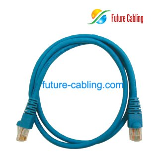 Cat6 UTP Patch Cable, Blue Jacket, 1 Meter