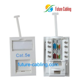 Cat5e UTP UK Module, Short Body