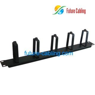 1U Cable Management, 5 Rings, Metal