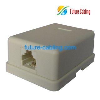 1 Port Telephone Surface Mount Box, 6P4C