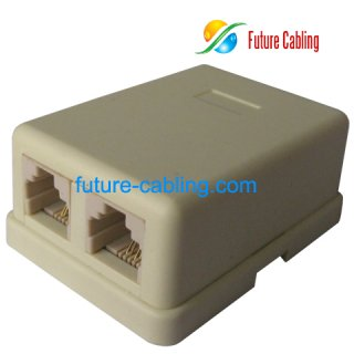 2 Port Telephone Surface Mount Box, 6P4C