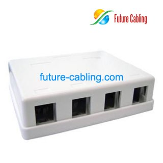 4 Port Surface Mount Box, without Keystone Jack