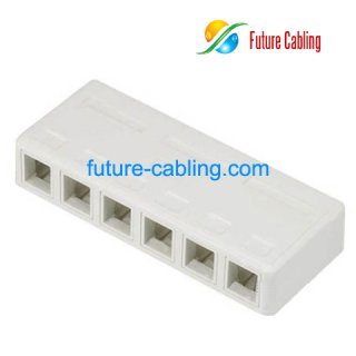 6 Port Surface Mount Box, without Keystone Jack