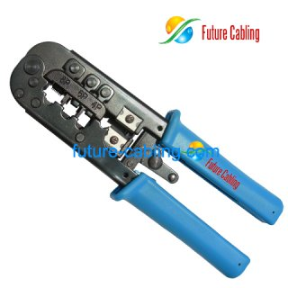 Crimping Tool, for 8P/6P/4P Modular Plug, with Cable Stripper and Cutting Tool