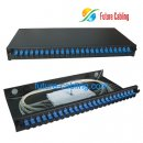 Fiber Optic Patch Panel, 1U, 24 Port, Suit for SC Simplex Fiber Optic Adapter